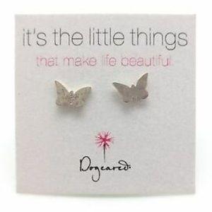 Dogeared Small Cute Butterfly Stud Earrings